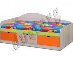 Детская мебель Почемучка односпальная с ящиками