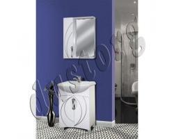 Комплект мебели в ванную Кензо 550(3) с патиной серебро