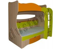 Двухъярусная кровать с ящиками Почемучка