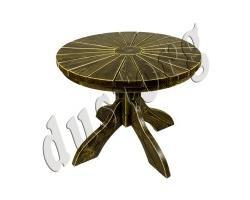Стол круглый «Солнышко» из массива сосны северных пород