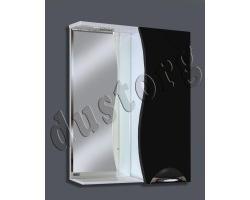 Зеркало в ванную Шкаф зеркальный Кензо-3 600 (чёрный/белый)