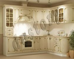 Модульная кухня Дуб белёный с патиной Золото