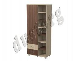 Детская мебель Алёшка Шкаф для одежды и белья с открытыми полками