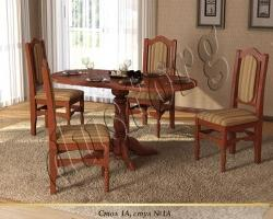 Стол и стулья для кухни №1 массив сосны
