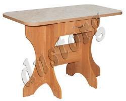 Кухонный стол раскладной с постформингом с ящиком