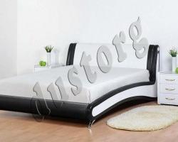 Кровать двуспальная Эсмеральда экокожа.