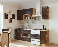 Кухонный гарнитур  Бронза 1,7м
