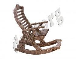 Кресло-качалка из дерева массив сосны