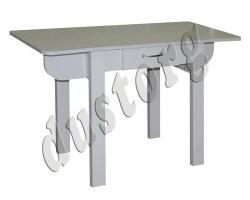 Кухонный стол раскладной с ящиком №4