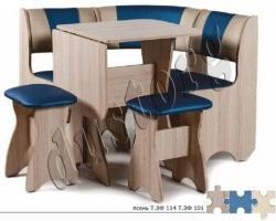 Набор уголок стол с табуретами для хрущевок «ТЮЛЬПАН-МИНИ»