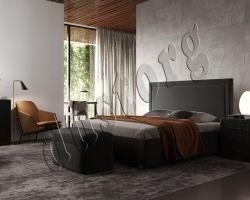 Кровать двуспальная Байон  (Domenico) экокожа.