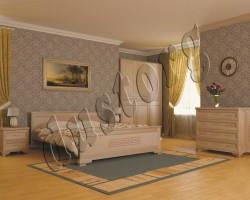 Кровать массив Клеопатра из натурального дерева