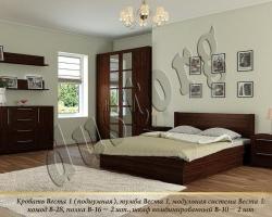 Кровать массив Веста 1 подиумная
