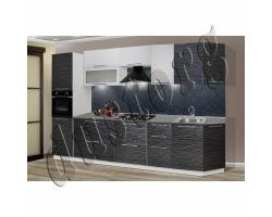 Модульная кухня Страйп (Чёрный и/или Белый)
