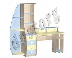 Детская мебель для мальчика Юнга Компьютерный стол (прямой) МДФ