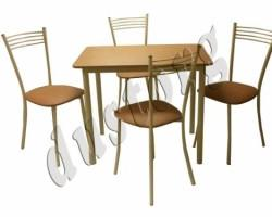 Стол и стулья для кухни Хлоя