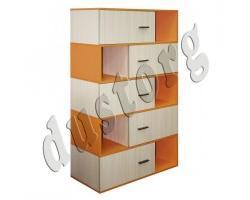 Детская мебель Скейт-3 Книжный шкаф Стеллаж №1 (Манго)