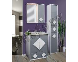 Мебель для ванной Алласио (серый или чёрный)
