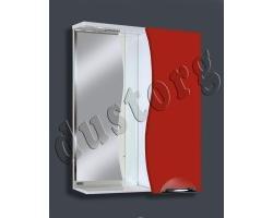 Зеркало в ванную Шкаф зеркальный Кензо-3 600 (красный/чёрный/белый)