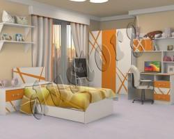 Детская мебель Дельта оранж