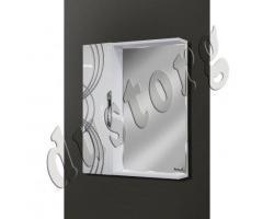 Зеркало в ванную Шкаф зеркальный Кензо 550 (4) с патиной серебро