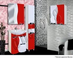 Мебель для ванной Кензо-3 600 (красный)