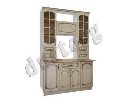 Кухонный шкаф  Дуб белёный с патиной Золото
