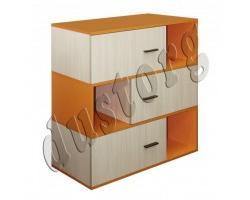 Детская мебель Скейт-3 Книжный шкаф Стеллаж №2 (Манго)