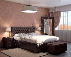 Кровать двуспальная Парадиз экокожа.