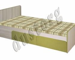 Детская мебель Скейт-3 Кровать (Лён)