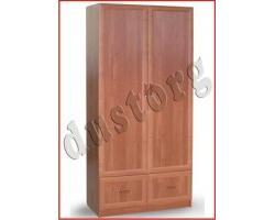 Шкаф для одежды и белья в рамочном профиле с 2 ящиками (1м)