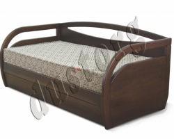 Кровать массив Икея Скай с ящиками (натуральное дерево)