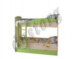 Двухъярусная кровать OYBER зеленая