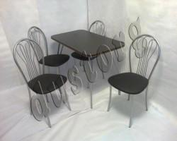 Стол и стулья для кухни Ромашка