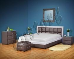 Кровать двуспальная Джойс экокожа.