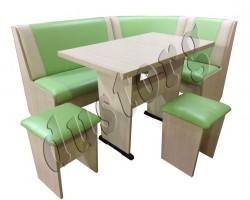 Кухонный Уголок Горизонт-3 со столом Горизонт и табуретами