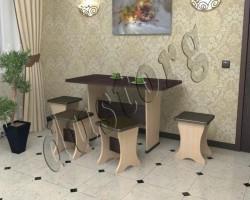 Стол и стулья для кухни Вера