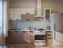 Кухонный гарнитур Латте глянец 2.0 метра