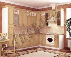 Модульная кухня Дуб белёный с патиной Орех