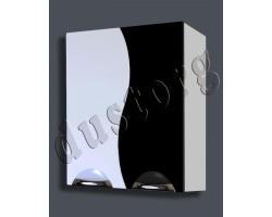 Шкаф навесной Кензо-2 550 чёрный