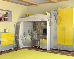 Детская мебель Алёшка МДФ с фрезеровкой Дюны