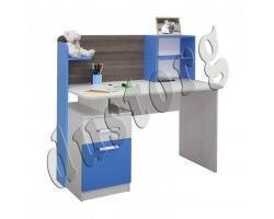 Детская мебель Скейт-5 Письменный стол с надстройкой Синий/Манго/Лайм