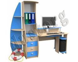 Детская мебель для мальчика Юнга Компьютерный стол (прямой)