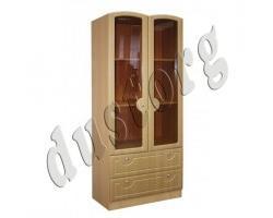 Детская мебель Катюша Книжный шкаф  со стеклом