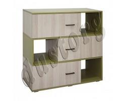 Детская мебель Скейт-3 Книжный шкаф Стеллаж №2 (Лён)