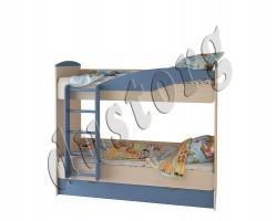 Двухъярусная кровать OYBER голубая