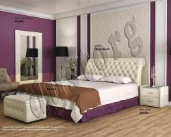 Кровать двуспальная Эрмитаж экокожа