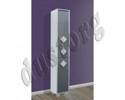 Ванна шкаф Пенал Алласио (серый или чёрный)