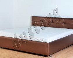 Кровать двуспальная Адажио экокожа.