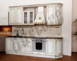 Кухонный гарнитур  Анжелика с патированными фасадами МДФ/ПВХ